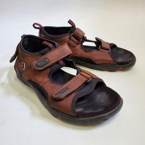 ECCO Me's Receptor Brown Hiking Outdoor Sandals
